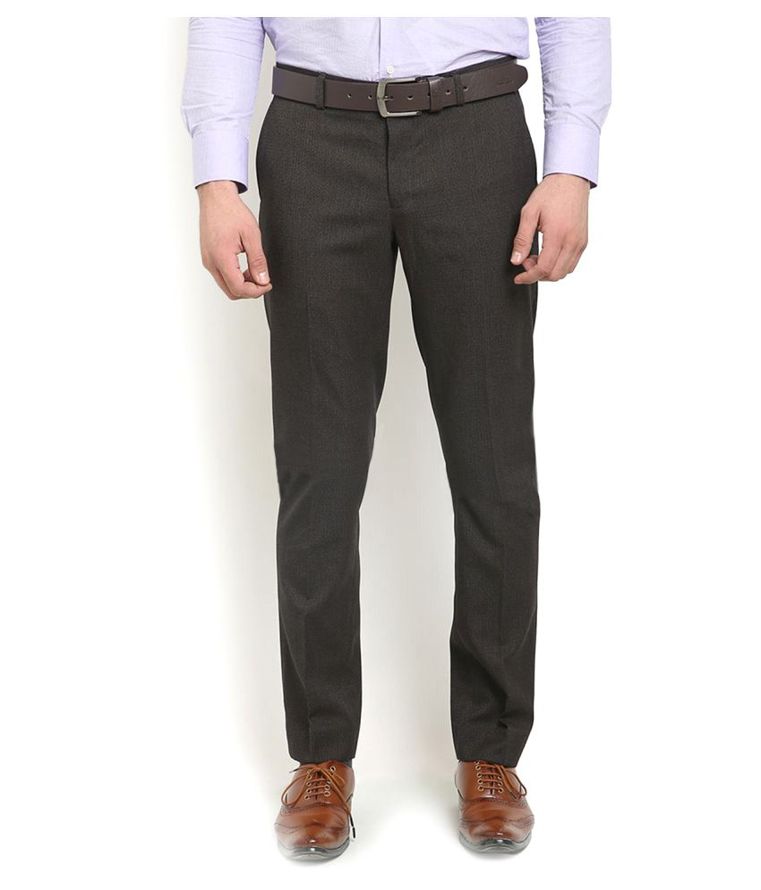 Blackberrys Brown Regular Flat Trouser