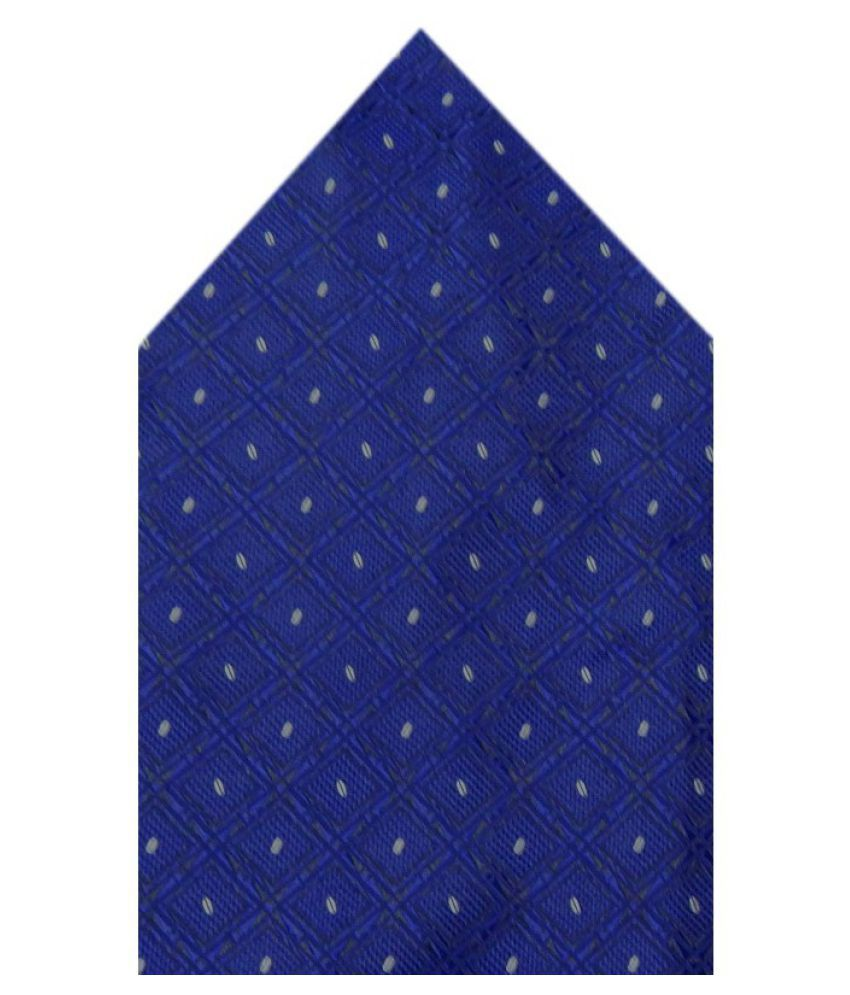 Navaksha Blue Micro Fiber Pocket Square