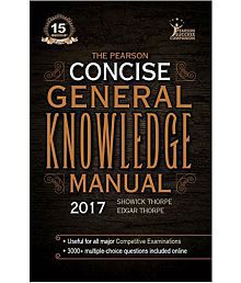 The Pearson Concise General Knowledge Manual 2017 (English) 1st Edition