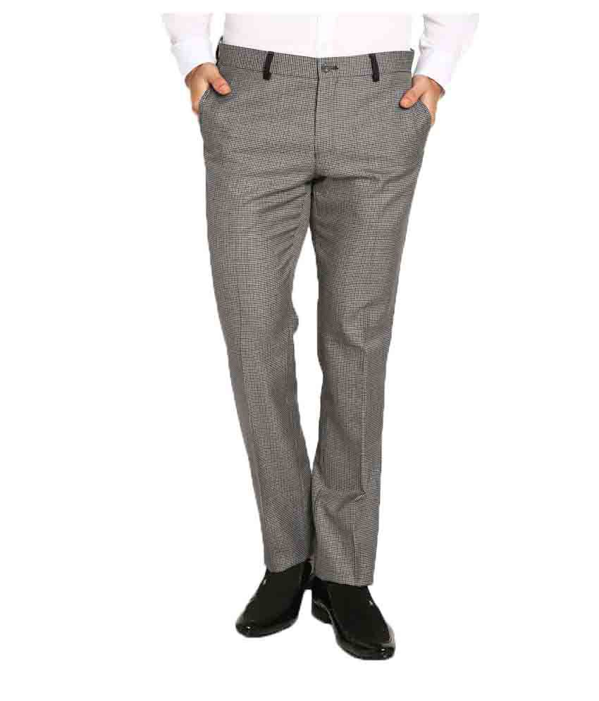 Blackberrys Grey Skinny Flat Trouser