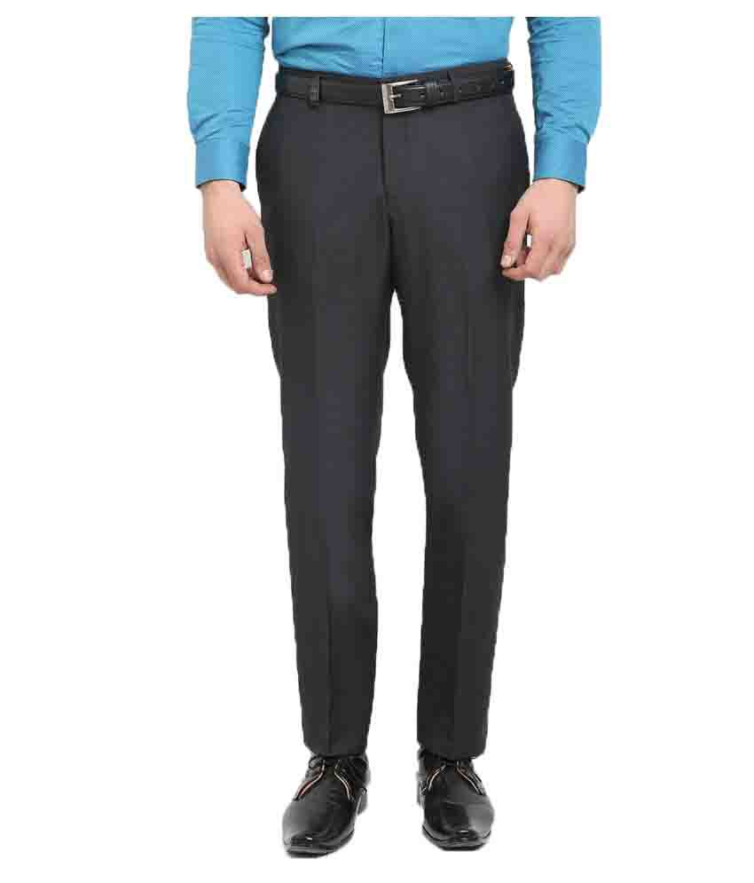 Blackberrys Grey Regular Flat Trouser