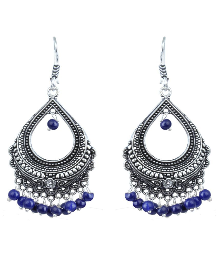 Waama Jewels Blue Chandeliers