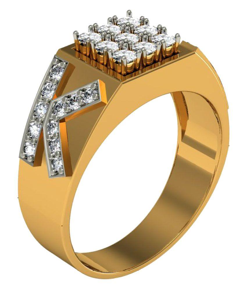 Jewelmantra 18k Gold Diamond Ring
