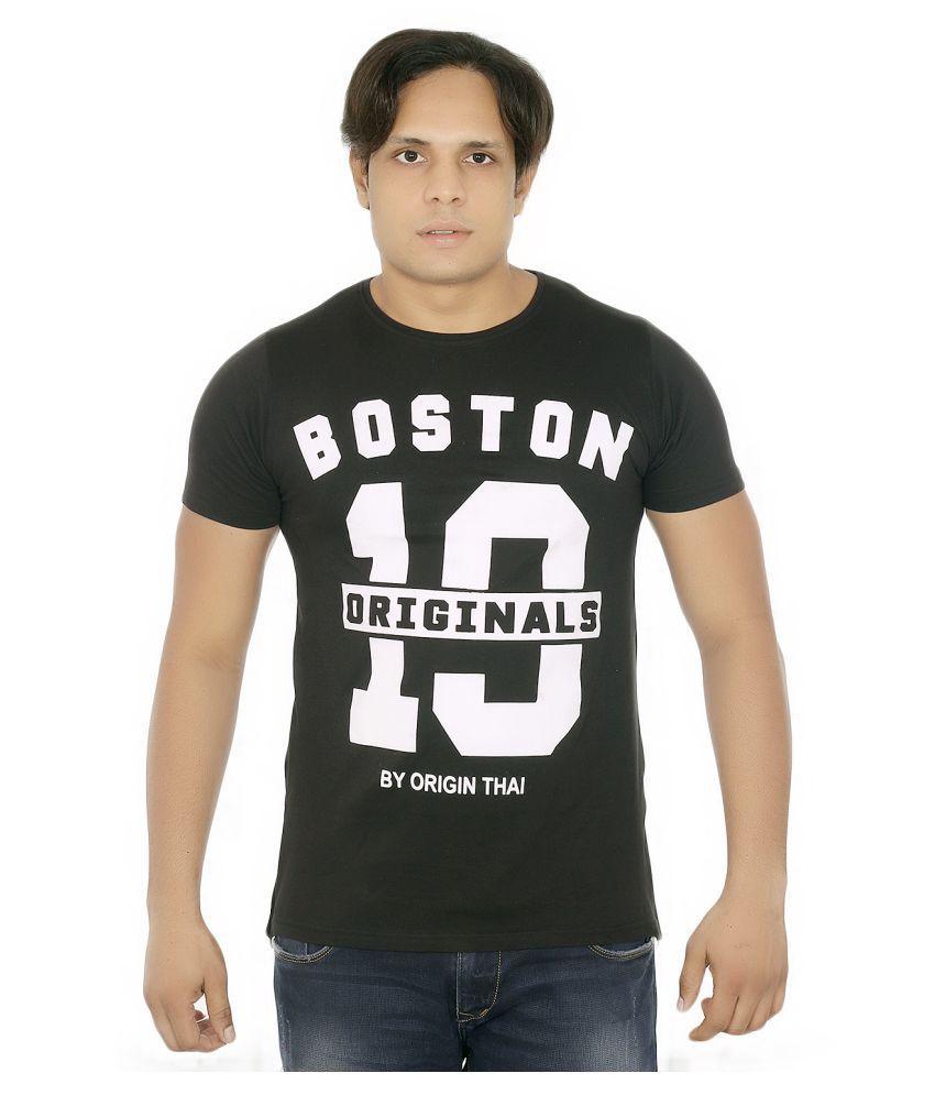 Fashion Monster Black Round T-Shirt