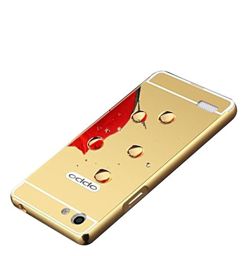 Mirror Back Cover For Oppo Neo 7 + Zipper earphone free by Style Crome.