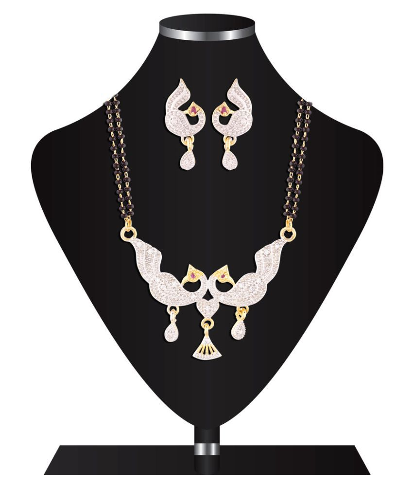 I Jewels Multicolour Mangalsutra Set