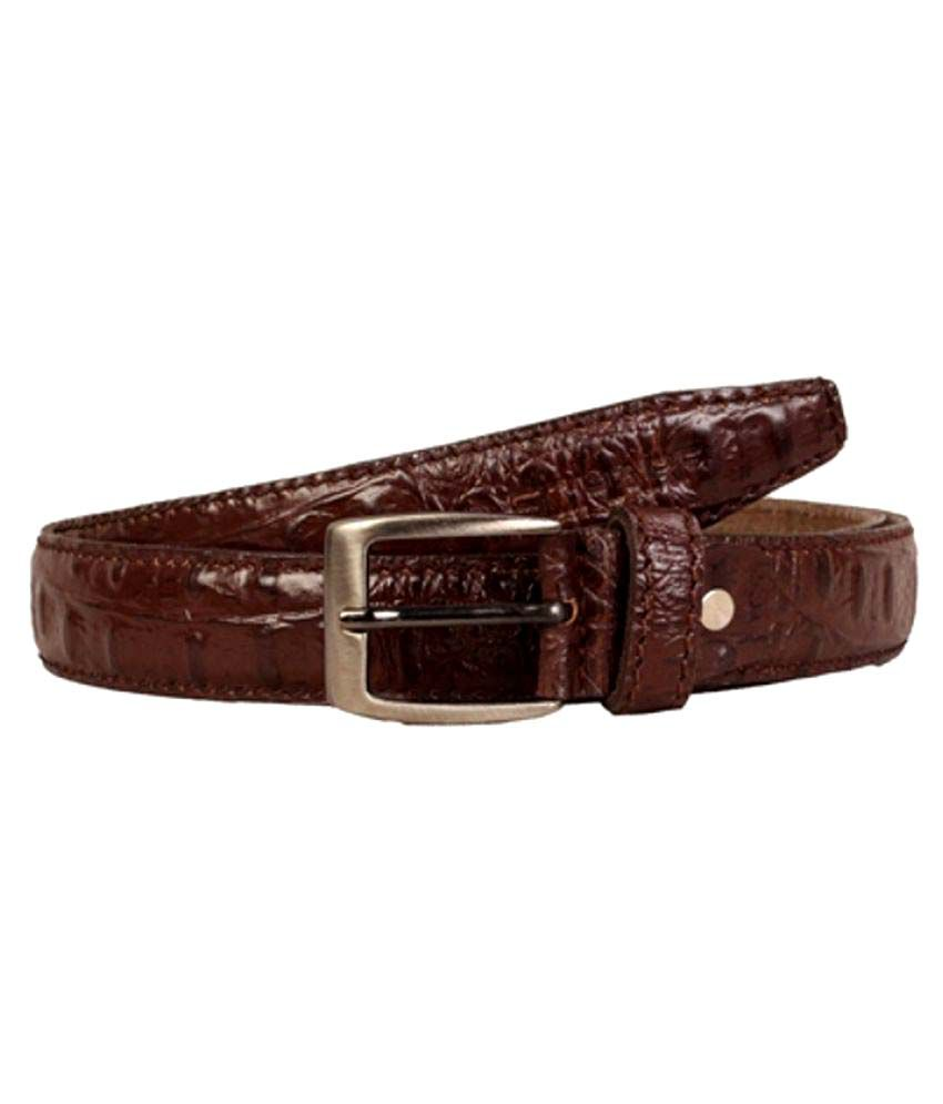 Scharf Brown Leather Formal Belts