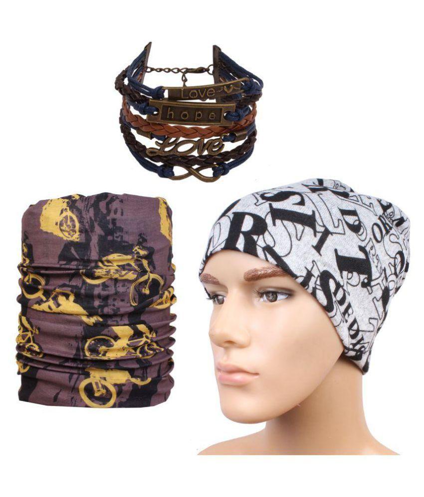 Jstarmart Multi Printed Wool Caps