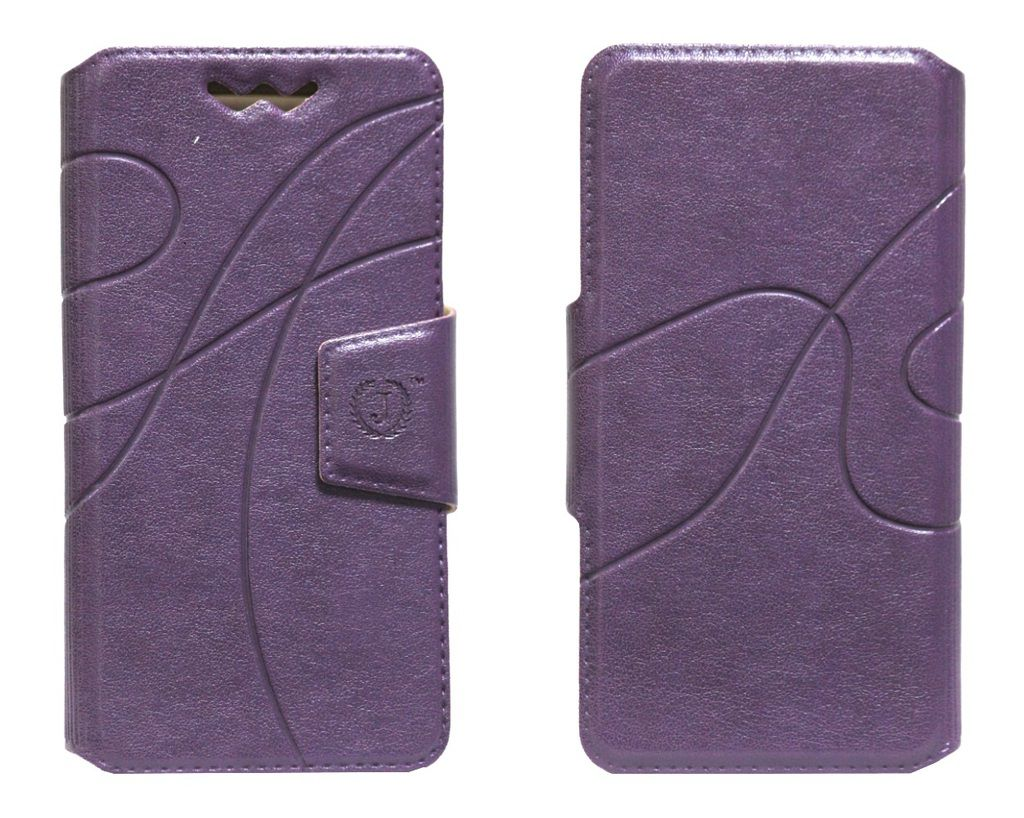 Lenovo A390 Flip Cover by Jojo   Purple available at SnapDeal for Rs.590