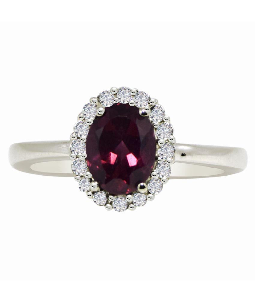 Shine Jewel 92.5 Silver Garnet Ring