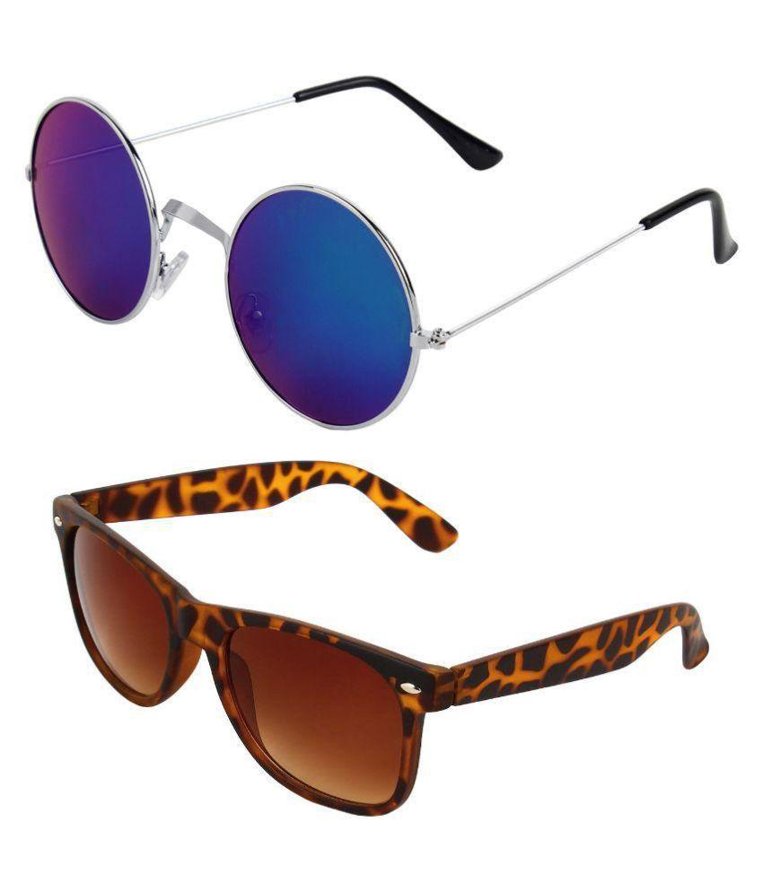 Zyaden - Multicolor Square Sunglasses ( Com-116 )