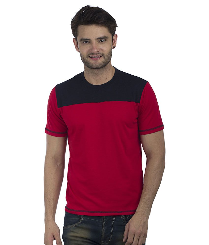 Five-Stones Red Round T-Shirt