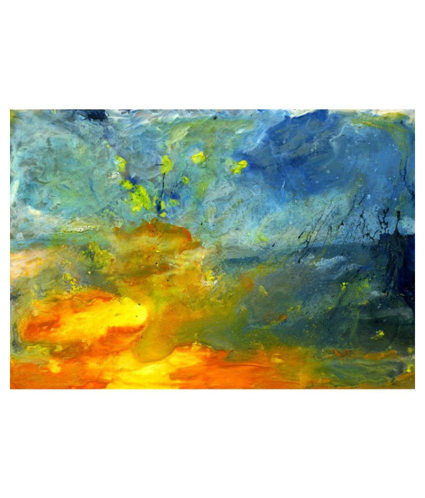 Vitalwalls Abstract Painting Paper Art Prints Without Frame Single Piece