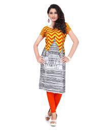 Fast N Fashion Multicoloured Crepe Printed Semi Stitched Kurti