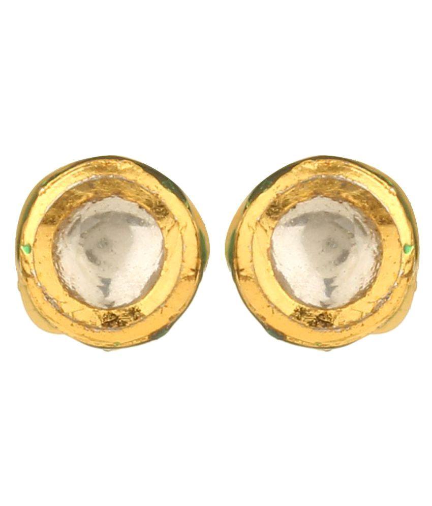 Dilan Jewels Gold Plated Alloy Kundan Studs