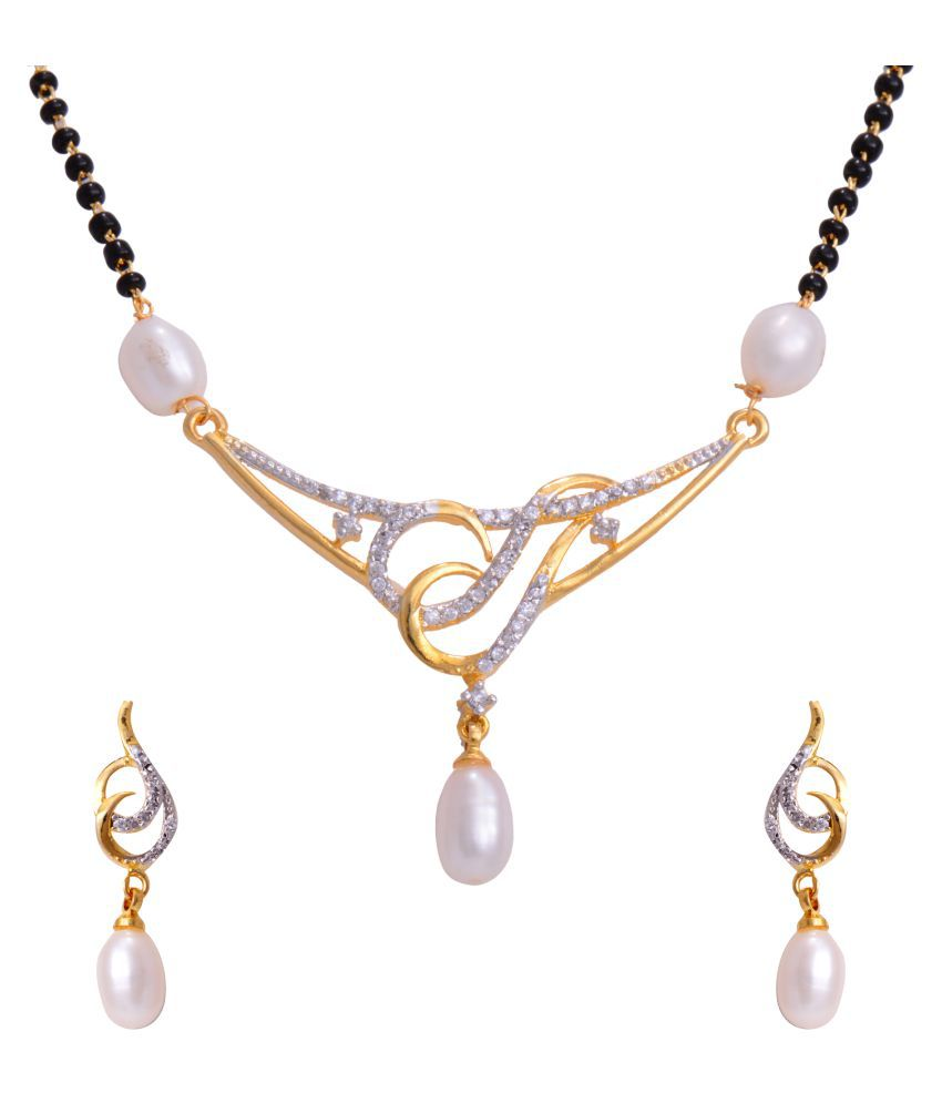 Pitti Jewels&Pearls Multicolour Mangalsutra Set