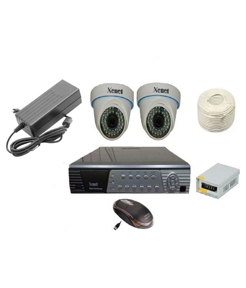 Xenet XN-7103HID 4-Channel AHD Dvr ,2(1.3MP) Dome Cameras (With 250GB HDD, Accessories))