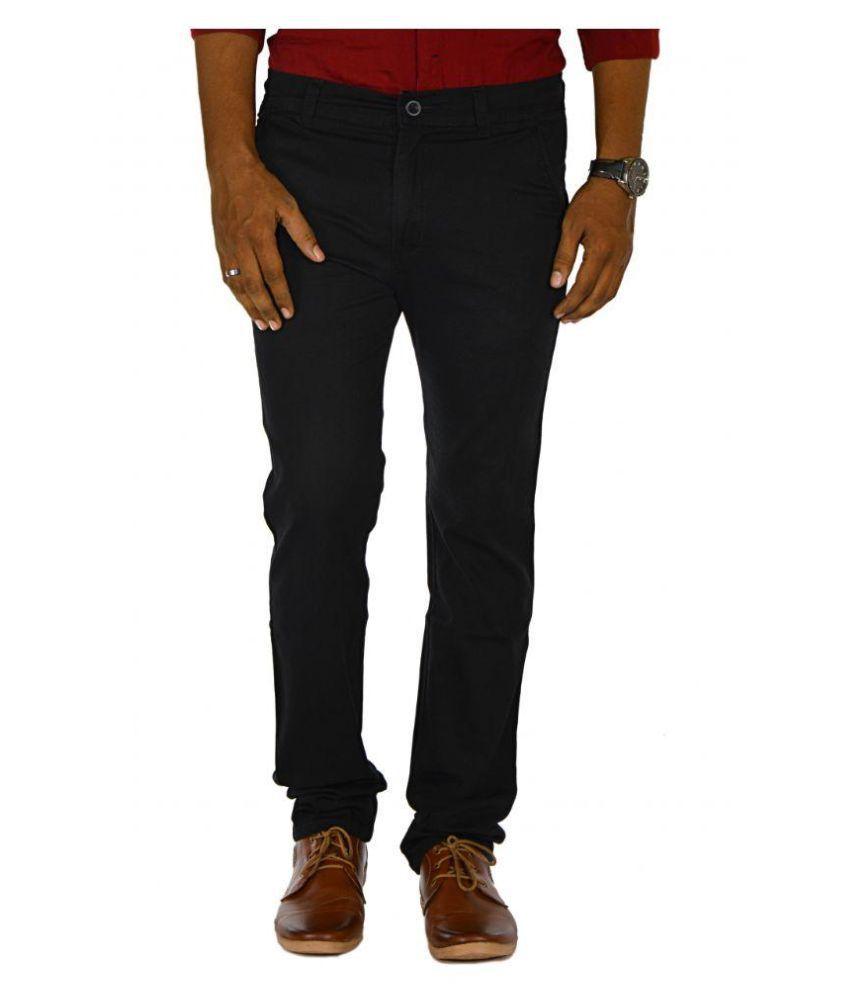 Jugend Black Slim Flat Trouser