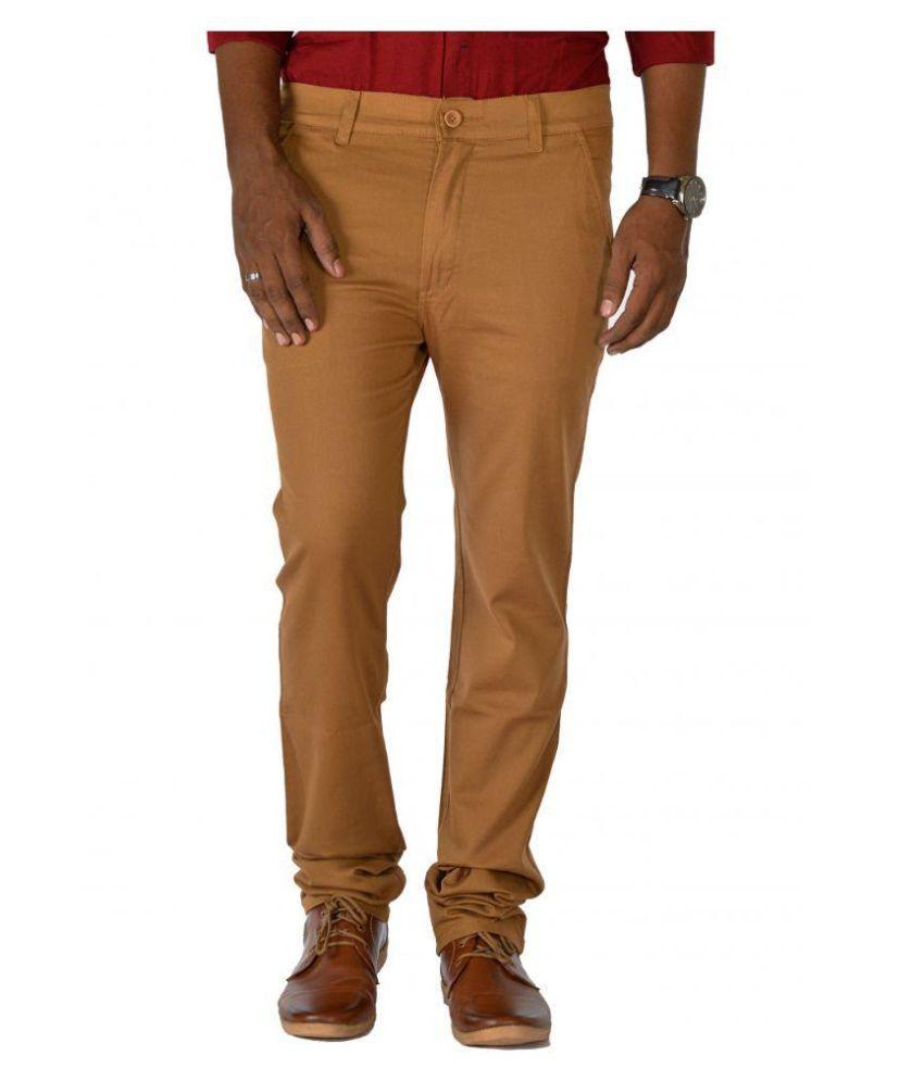 Jugend Brown Slim Flat Trouser