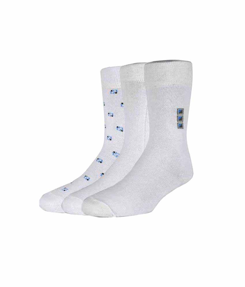 51498075c09c Van Heusen White Casual Full Length Socks - Pack of 3: Buy Online at Low Price  in India - Snapdeal