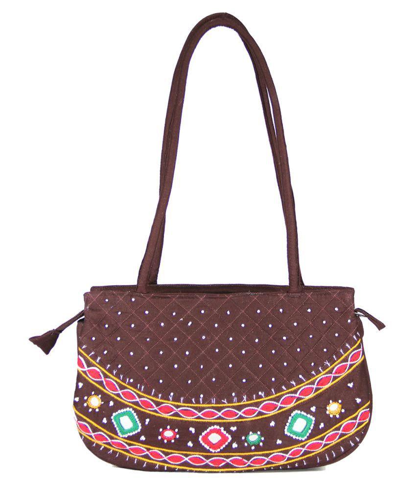 Womens Cottage Brown Jute Shoulder Bag