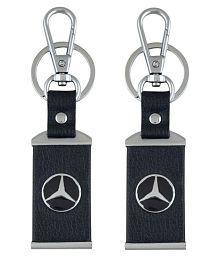 Parrk Mercedes Car Logo Keychain  - Pack Of 2