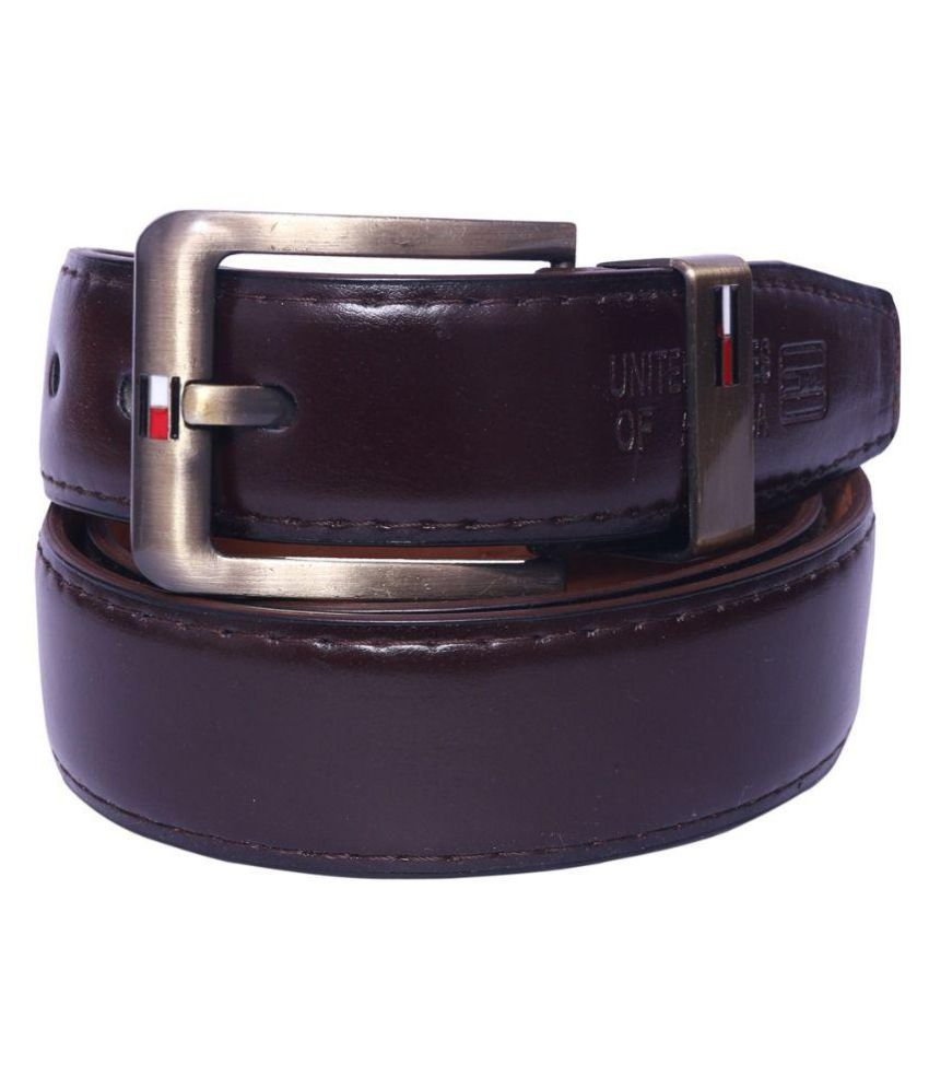 Coovs Purple Leather Formal Belts
