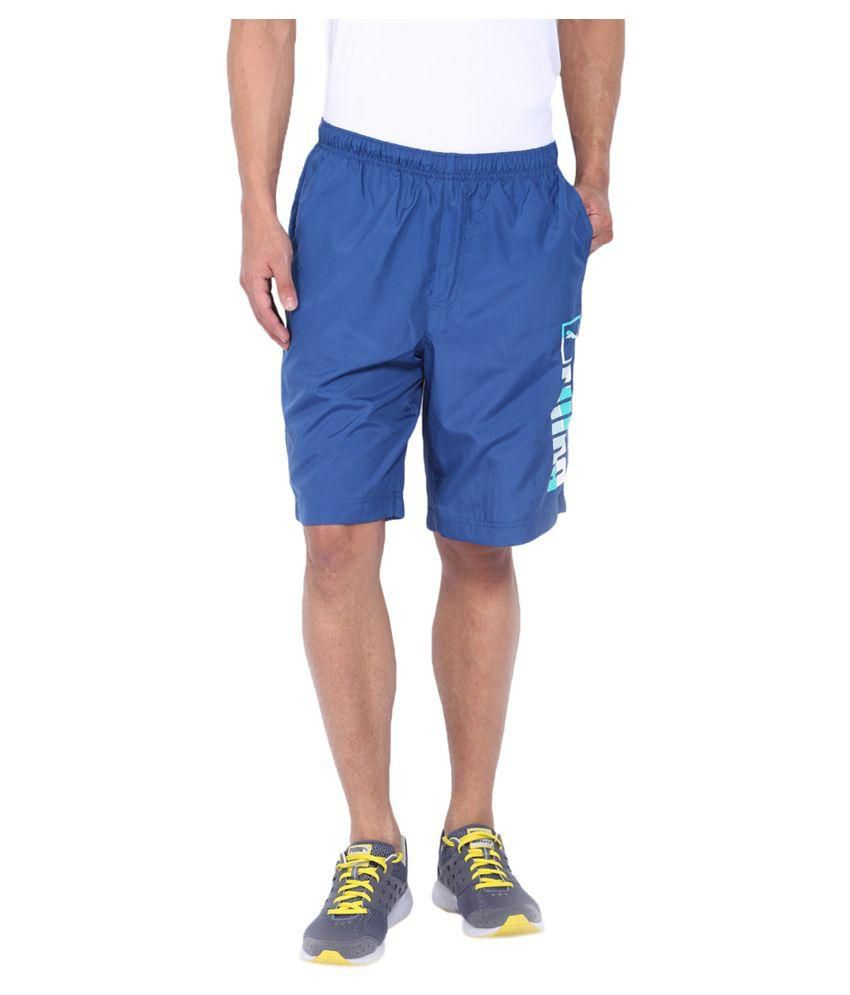 Puma Blue Cotton Shorts