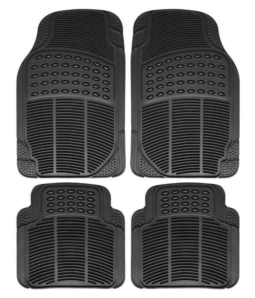 True Vision Black Rubber Car Floor Mat - Set of 4