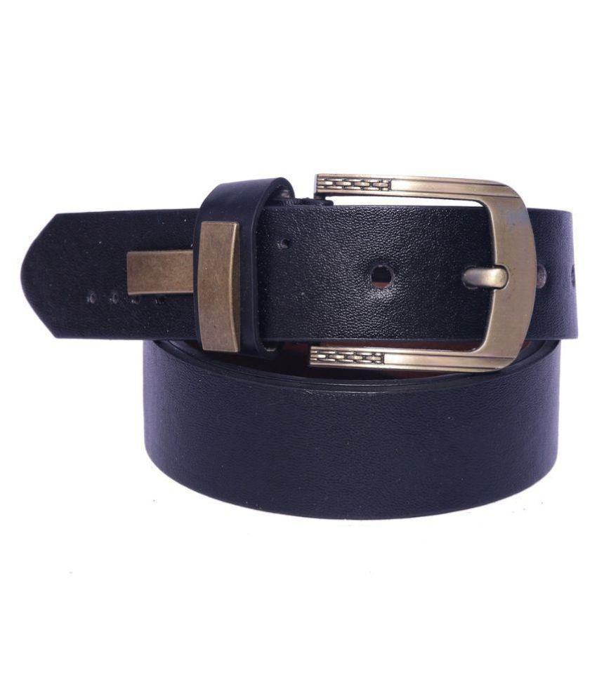 Coovs Black Leather Formal Belts
