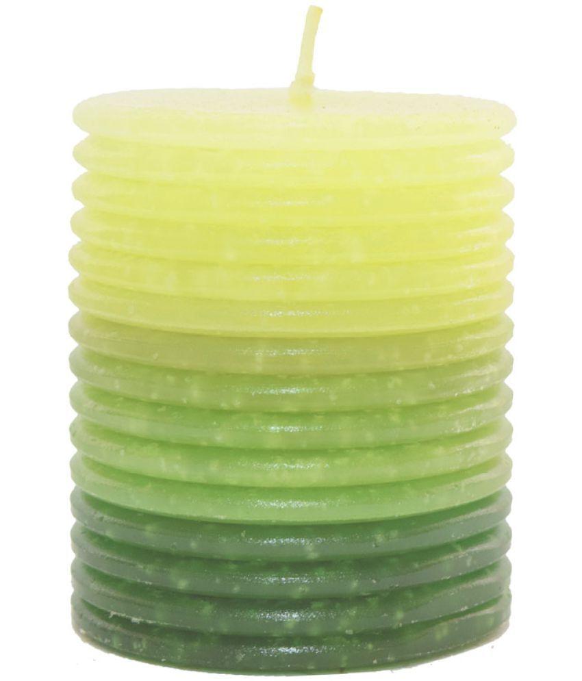 Skycandle Green Fragrance Pillar Candle