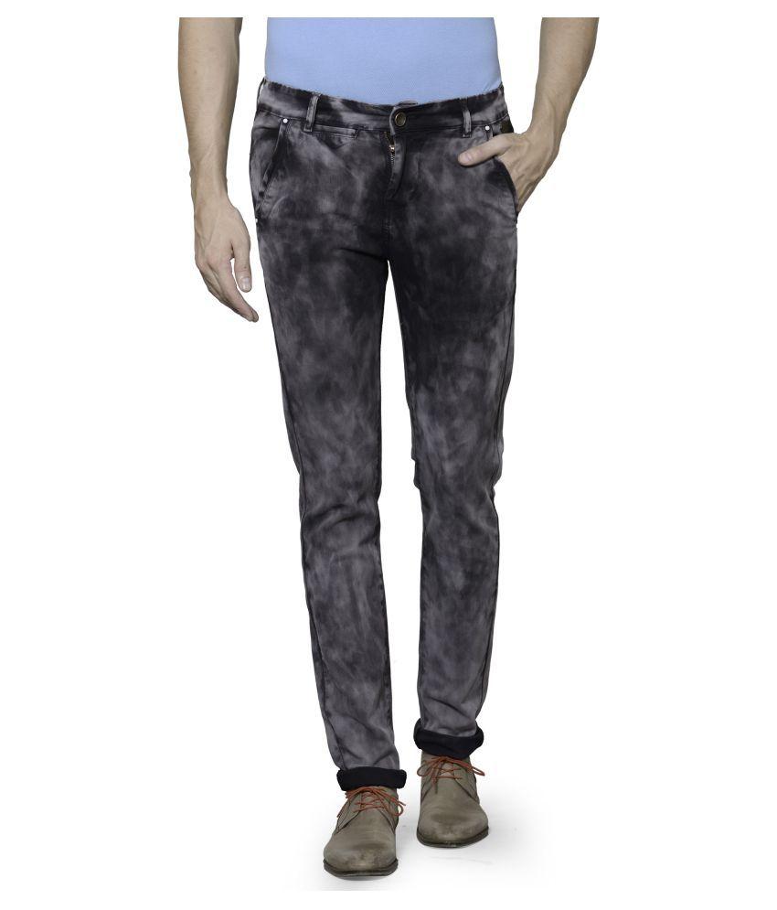Azov Fashions Grey Slim Fit Trouser
