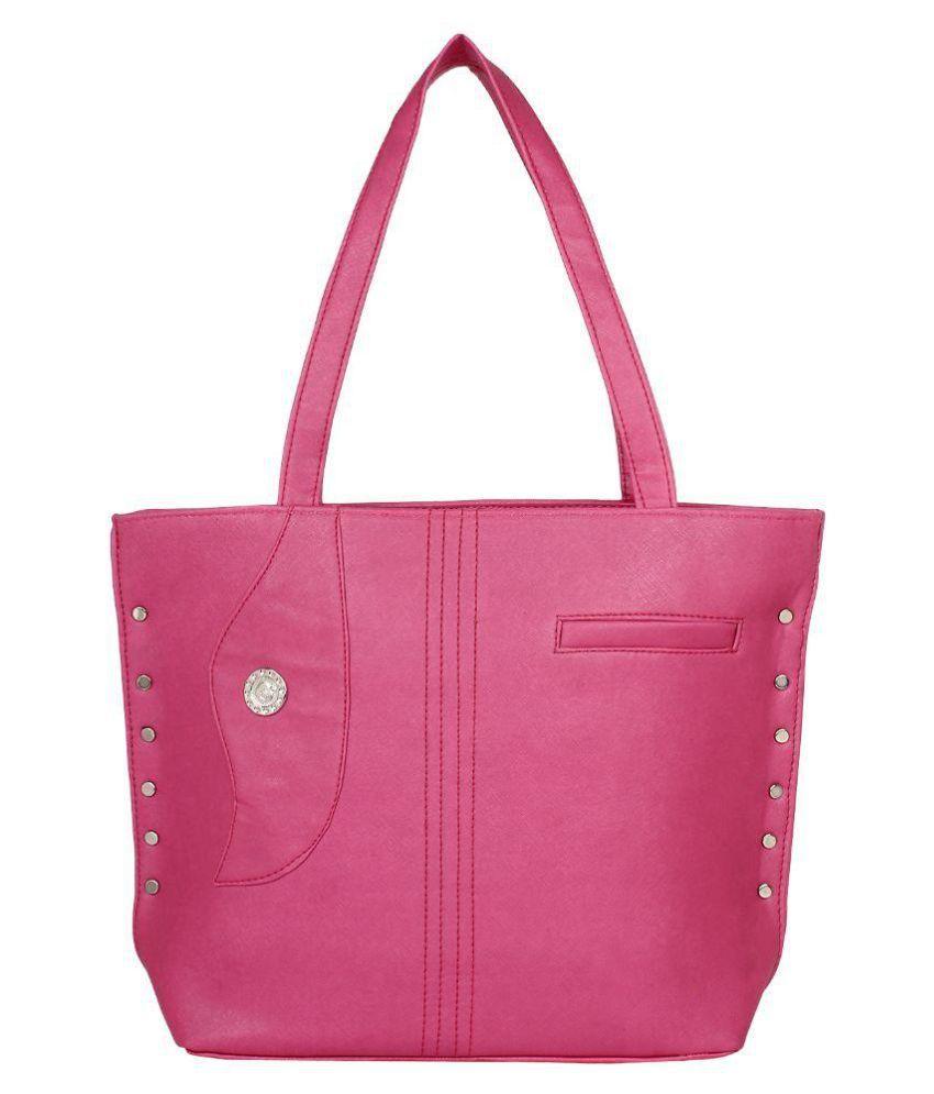 Red Rose Pink Fabric Shoulder Bag
