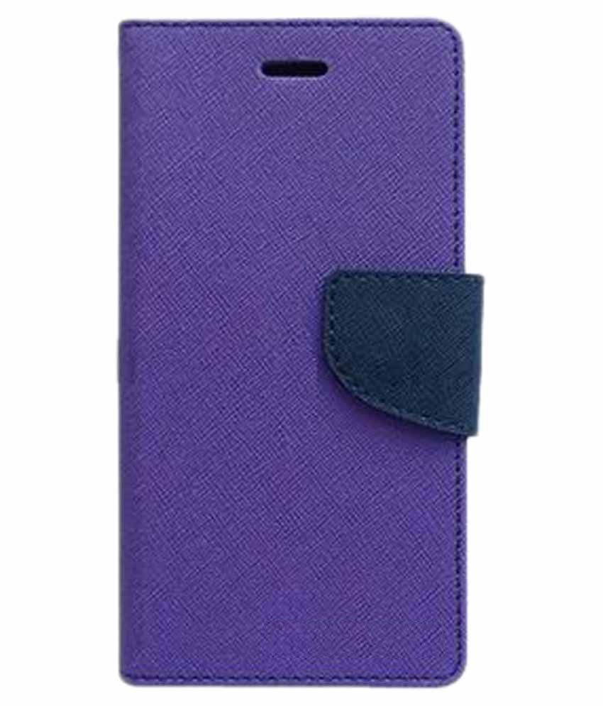 Samsung Galaxy J1 Ace Flip Cover by Kosher Traders - Purple