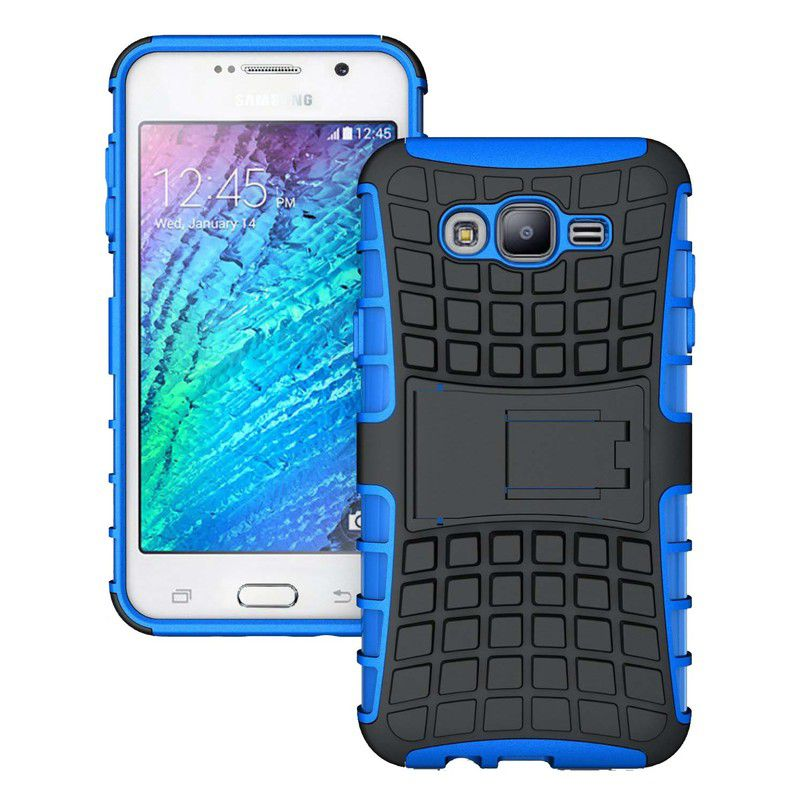 Cantra Kick Stand Hard Dual Back Cover for Samsung Galaxy On5 - Blue