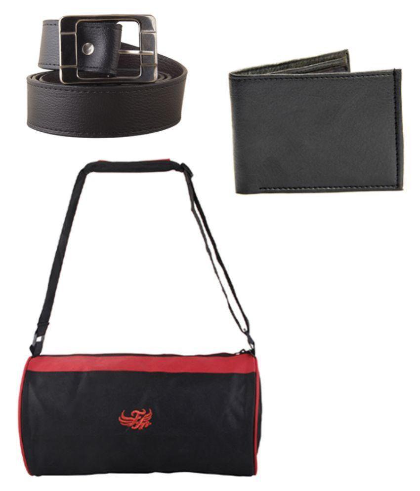 Flying Machine Black Gym Bag