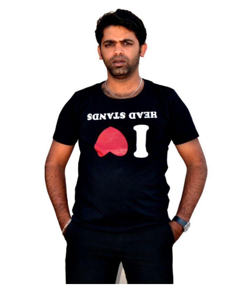 Top Yogi Black Cotton T-Shirt Single Pack