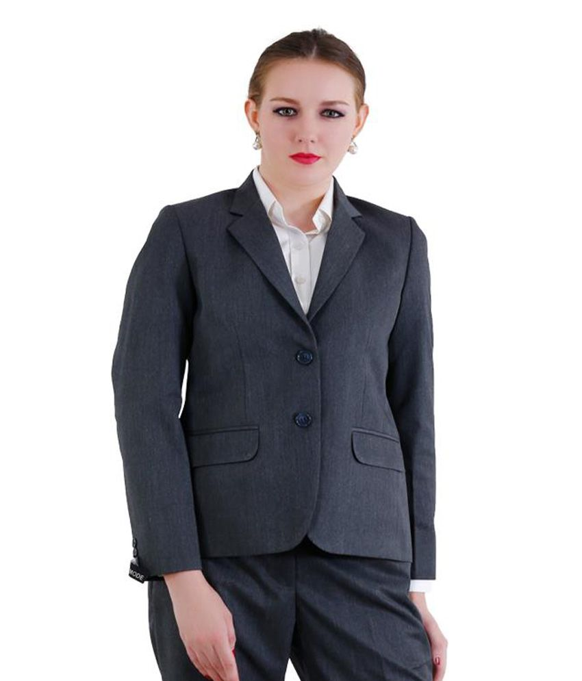 La Mode Grey Solid Formal Waistcoats