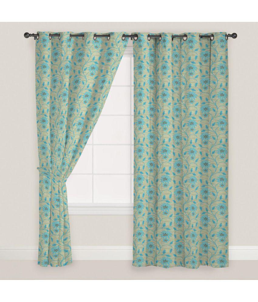 Presto Set of 2 Window Eyelet Curtains Floral