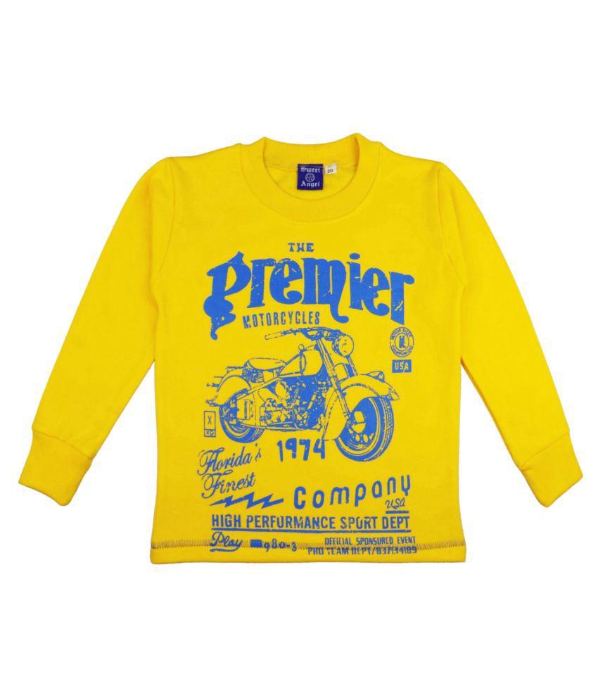 Sweet Angel Yellow Sweatshirts