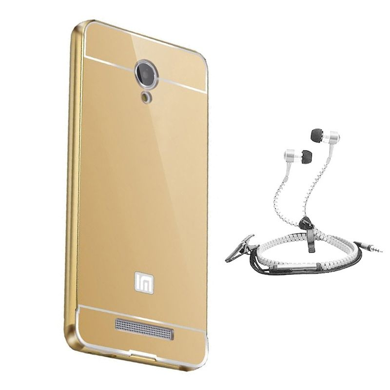 Mirror Back Cover For Xiaomi Mi4 + Zipper earphone free by Style Crome.