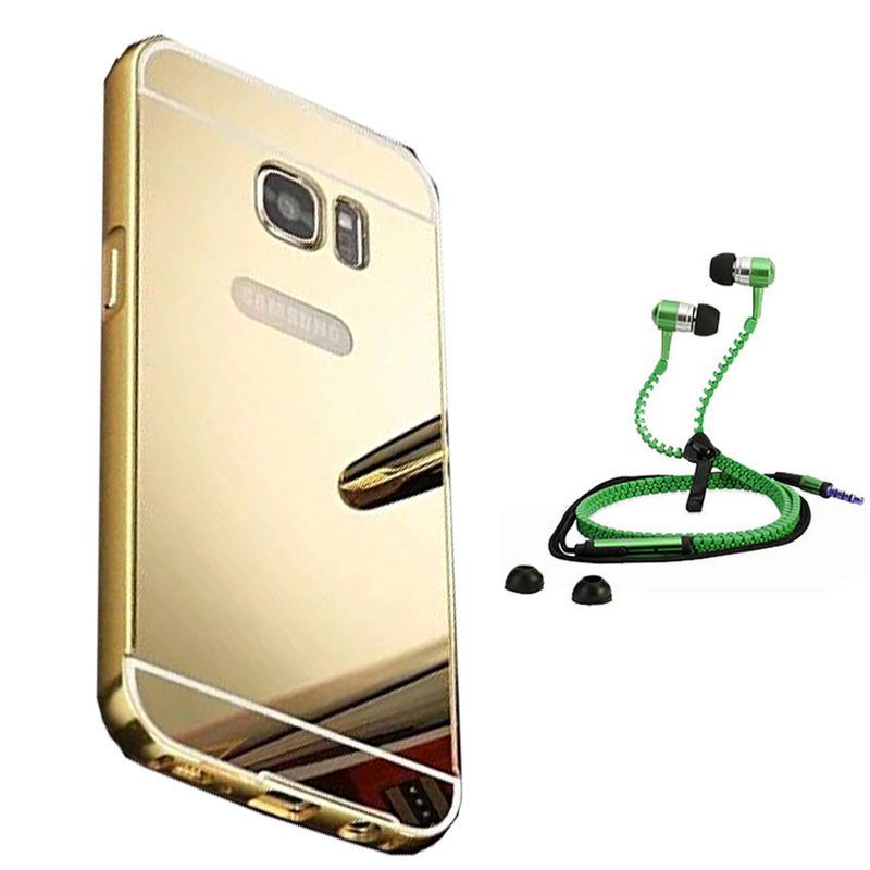 Mirror Back Cover For Samsung Galaxy S7 Edge + Zipper earphone free by Style Crome.