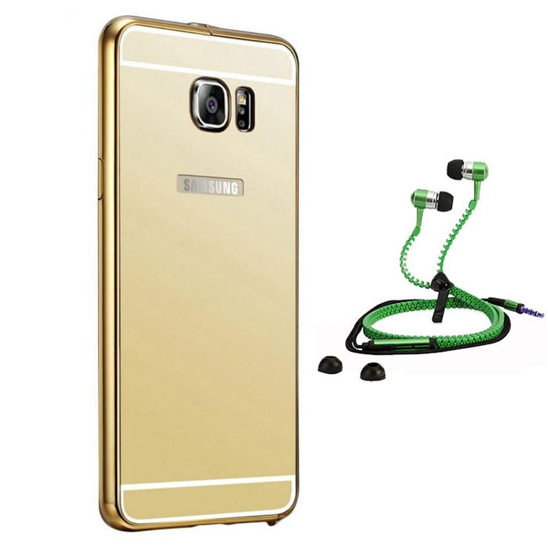 Mirror Back Cover For Samsung Galaxy S6 + Zipper earphone free by Style Crome.