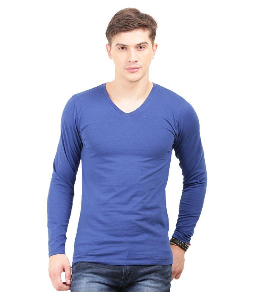 Thisrupt Blue V-Neck T-Shirt