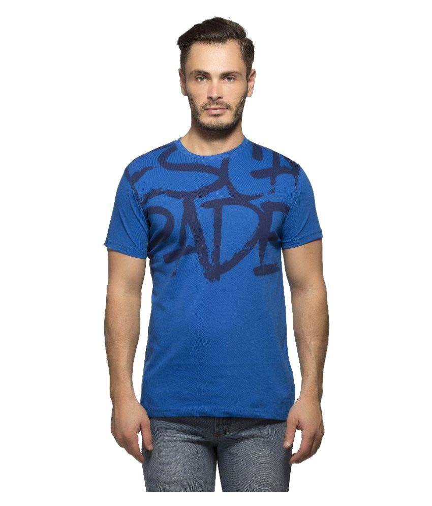 Yo Republic Blue Round T-Shirt Pack of 1