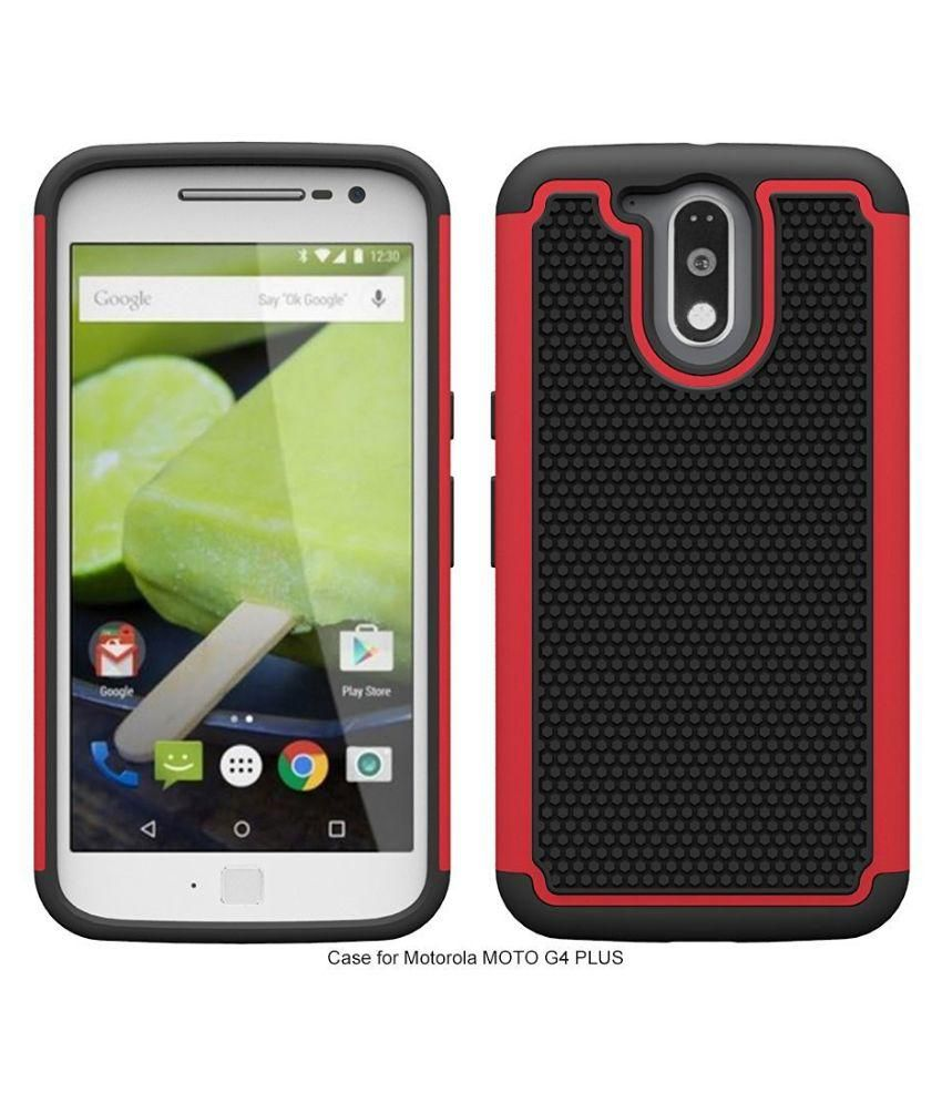 Moto G4 Cover by Robustrion - Black