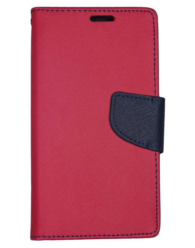 Wallet Flip Case Back Cover For Samsung S6 Edge - (Red) + Flexible Mini LED Stick Lamp Black By Style Crome Store