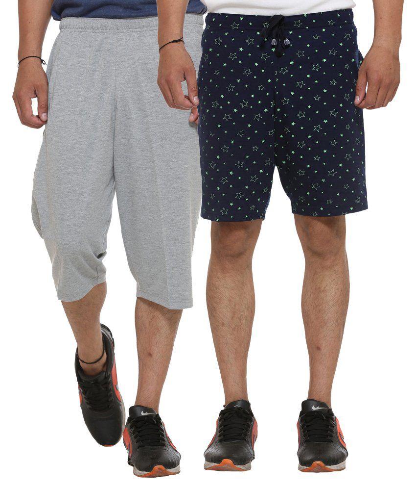 Vimal Jonney Multi Shorts Set of 2