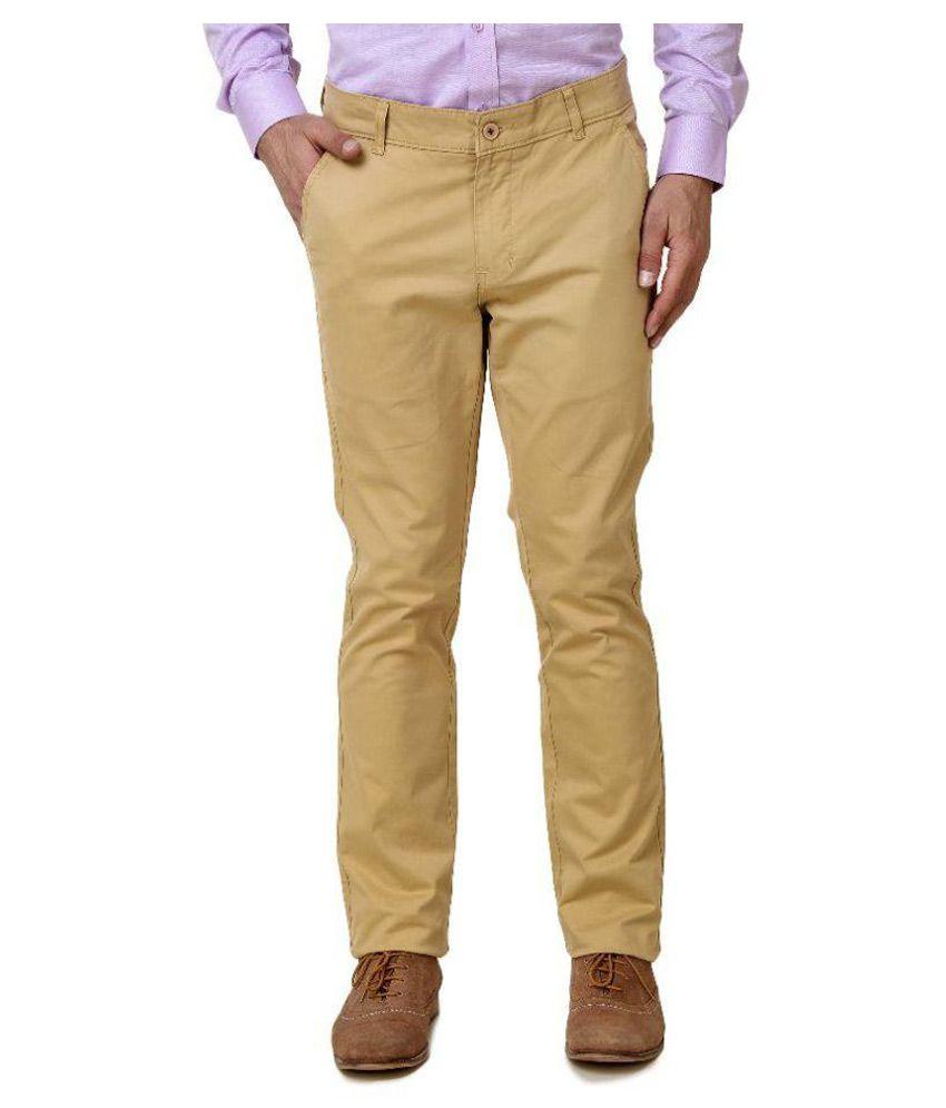 Austin-M Beige Regular Fit Trouser