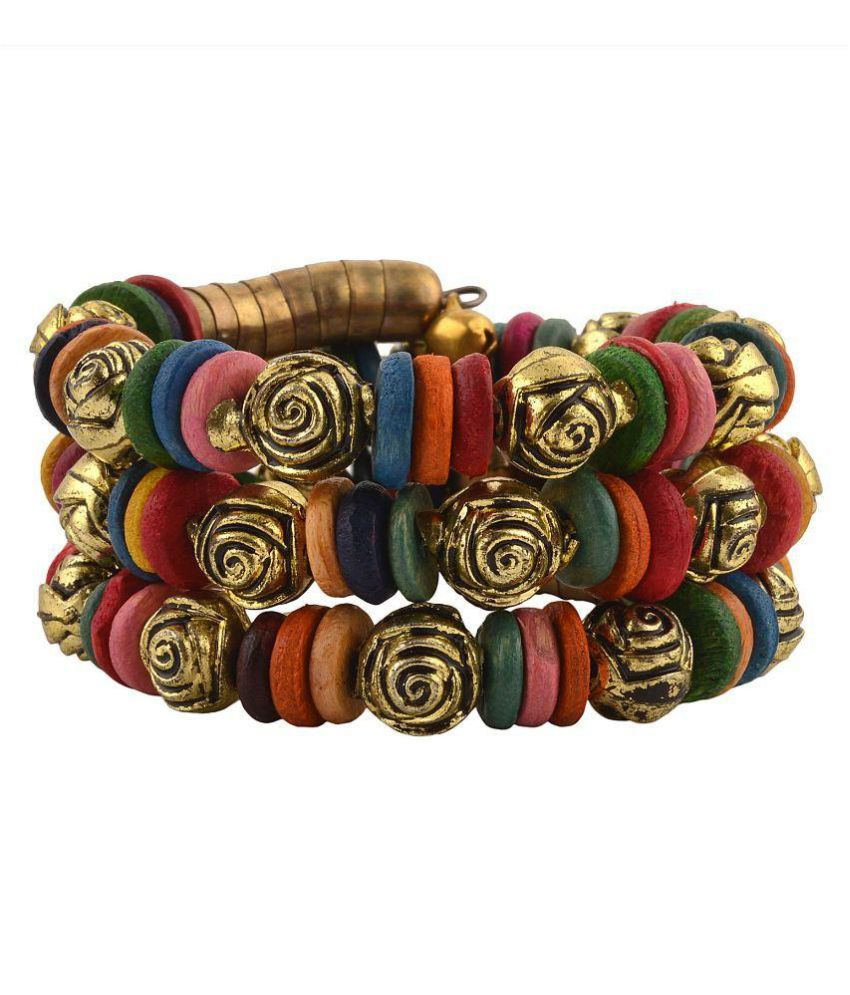 Crayonflakes Multicolour Spiral Hand Bracelet